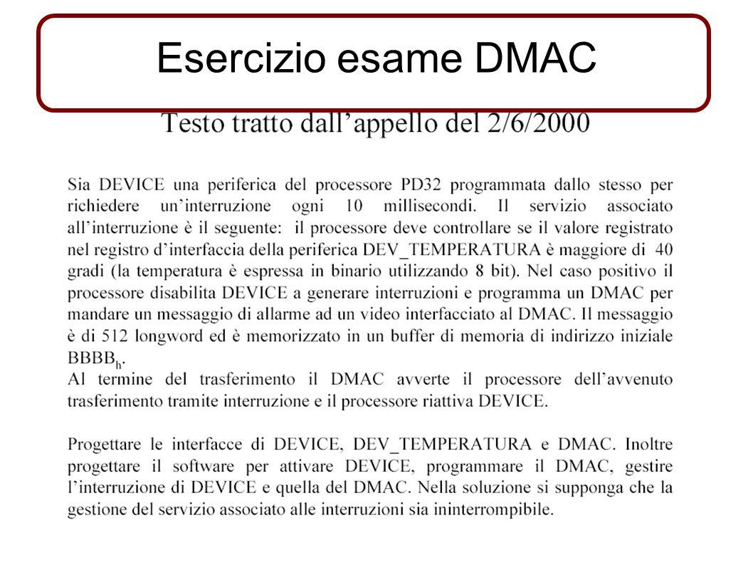 Esercizio esame DMAC