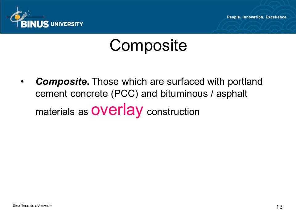 Bina Nusantara University 13 Composite Composite.