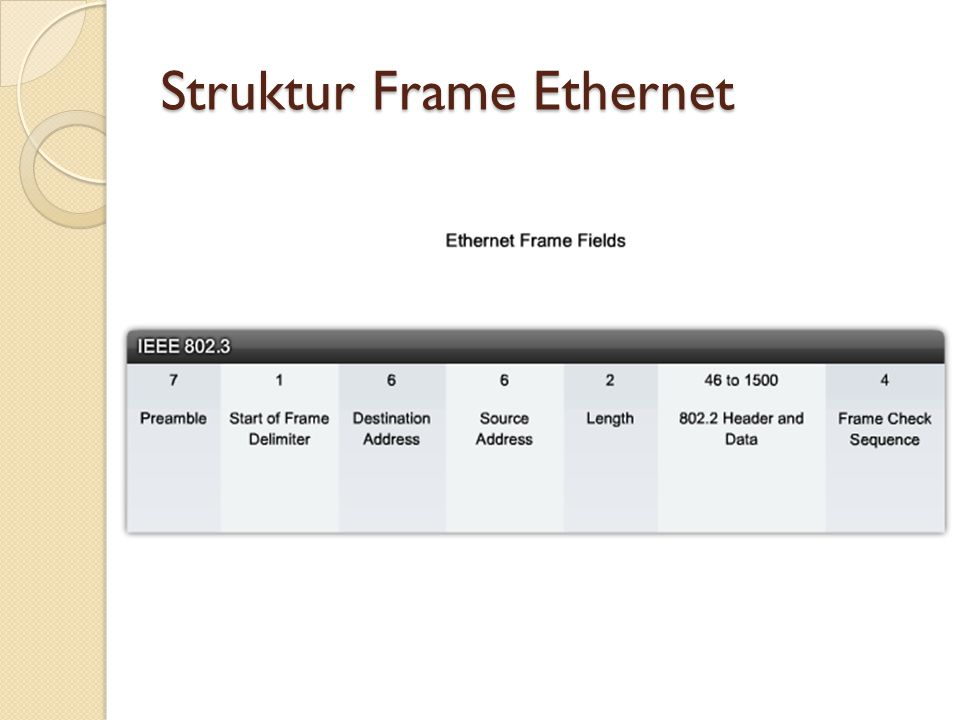 Struktur Frame Ethernet