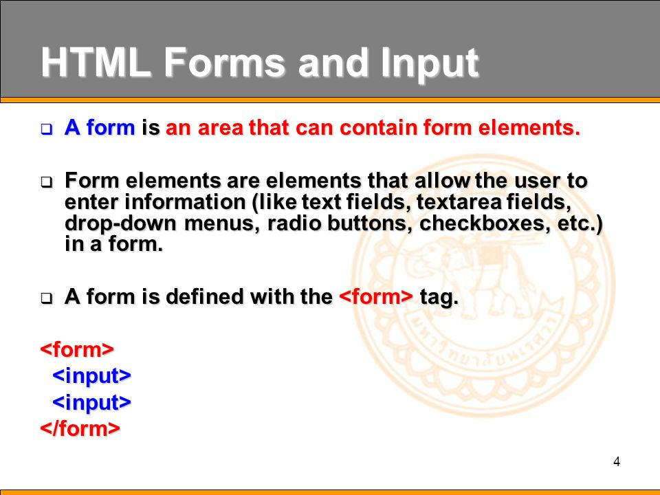 45 HTML Scripts  A script in HTML is defined with the tag.