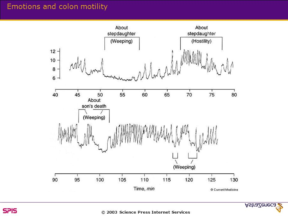 © 2003 Science Press Internet Services Emotions and colon motility