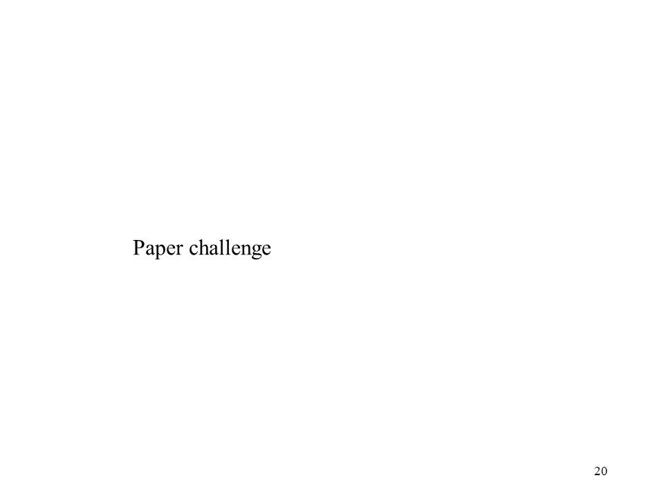 20 Paper challenge