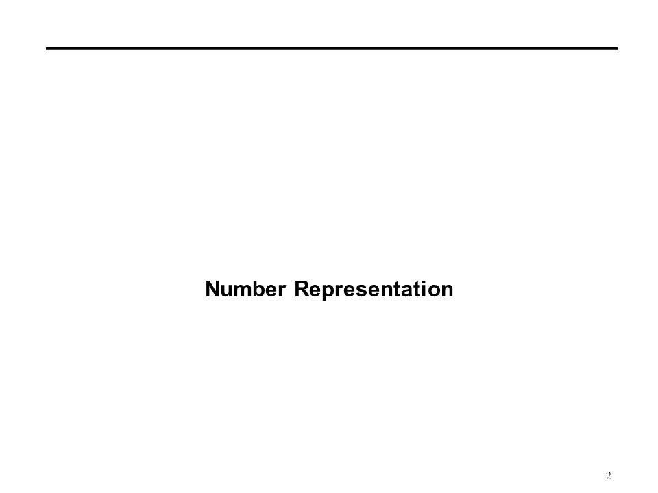 2 Number Representation