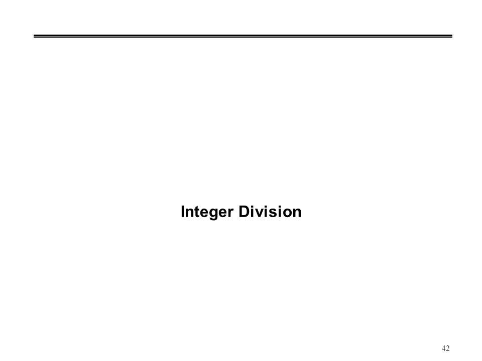 42 Integer Division