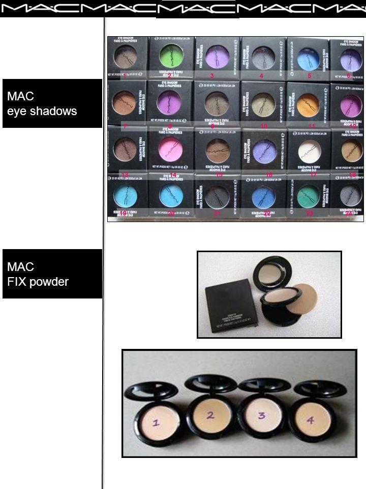 e- cosmetics MAC GLITTER EYELINER MAC LIPGELEE -Light pink – Bronze – Coral - Fuchia MAC POWDER BLUSH