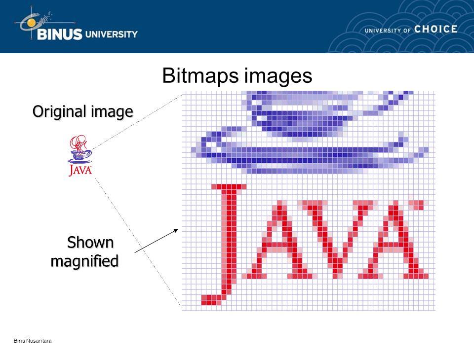 Bina Nusantara Bitmaps images Original image Shownmagnified