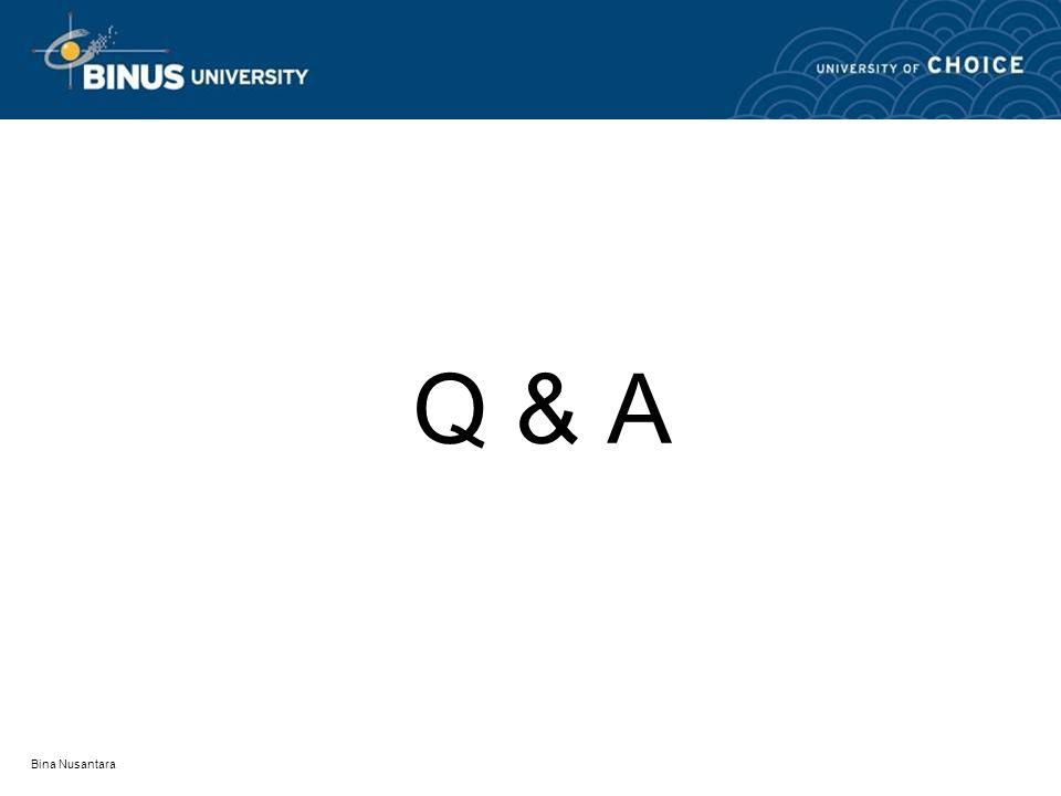 Bina Nusantara Q & A