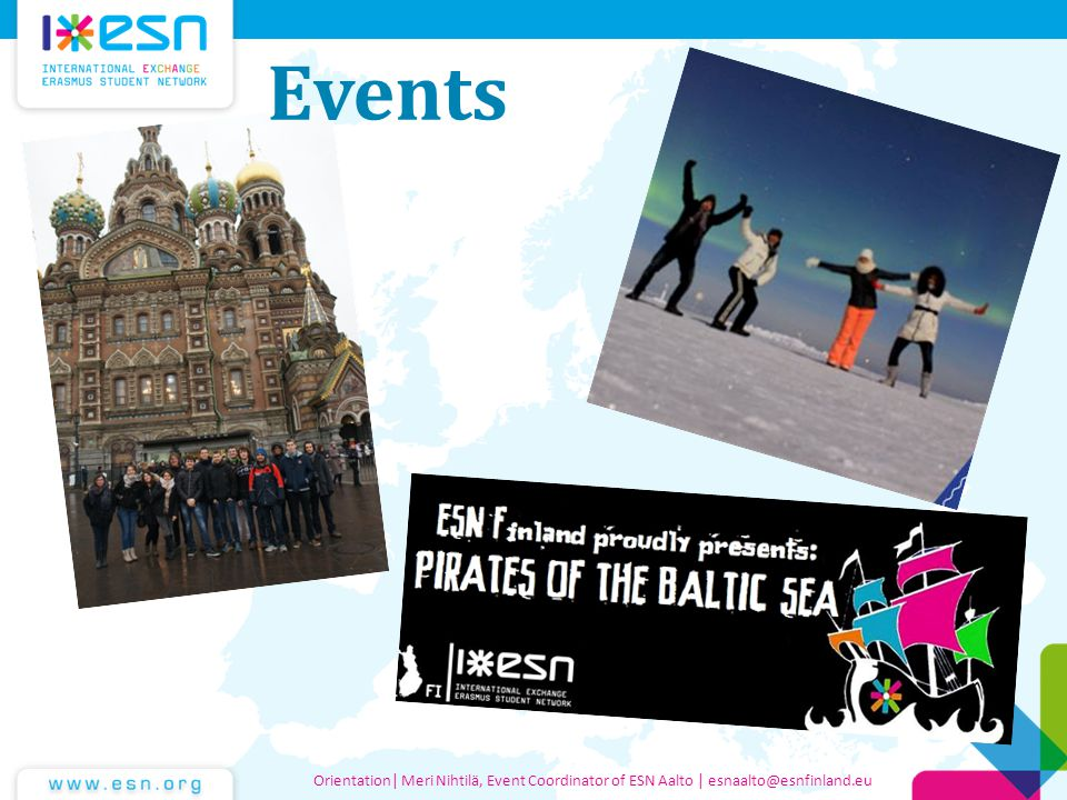 Events Orientation| Meri Nihtilä, Event Coordinator of ESN Aalto | esnaalto@esnfinland.eu