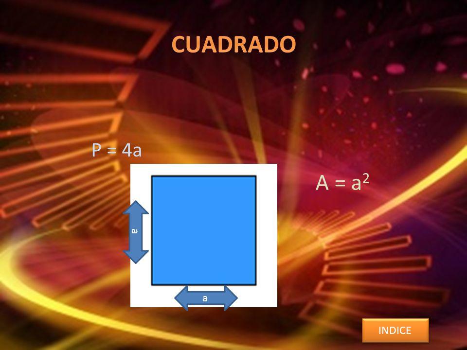 P = 4a A = a 2 INDICE a a