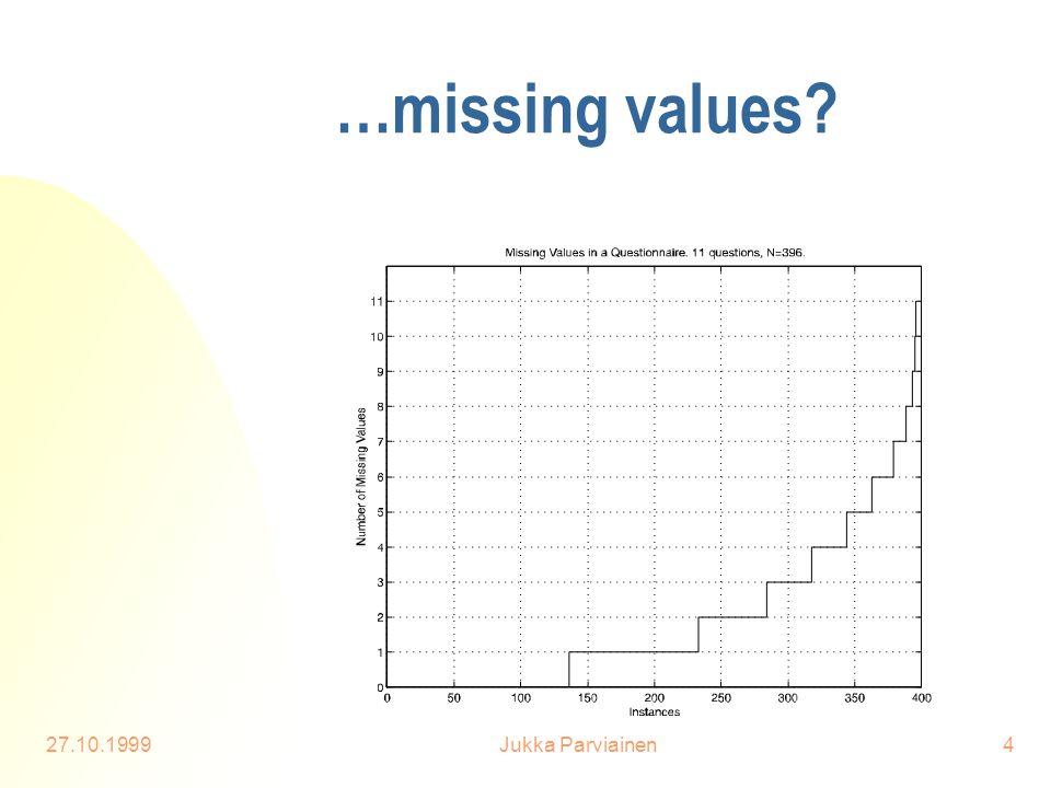 27.10.1999Jukka Parviainen4 …missing values