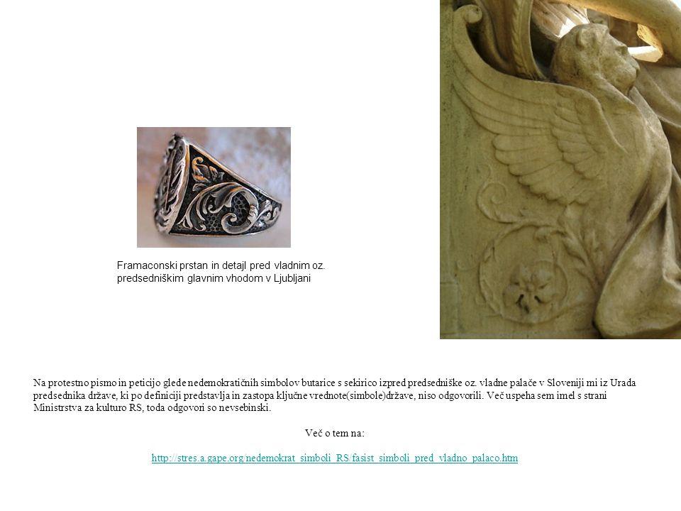 Na protestno pismo in peticijo glede nedemokratičnih simbolov butarice s sekirico izpred predsedniške oz. vladne palače v Sloveniji mi iz Urada predse