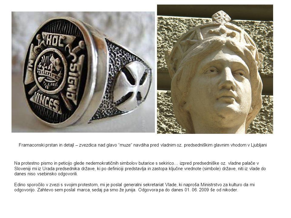 Na protestno pismo in peticijo glede nedemokratičnih simbolov butarice s sekirico… izpred predsedniške oz. vladne palače v Sloveniji mi iz Urada preds