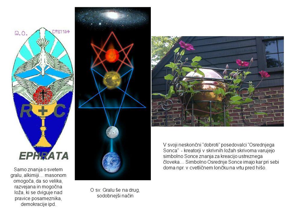 """V svoji neskončni """"dobroti"""" posedovalci """"Osrednjega Sonca"""" - kreatorji v skrivnih ložah skrivoma varujejo simbolno Sonce znanja za kreacijo ustreznega"""