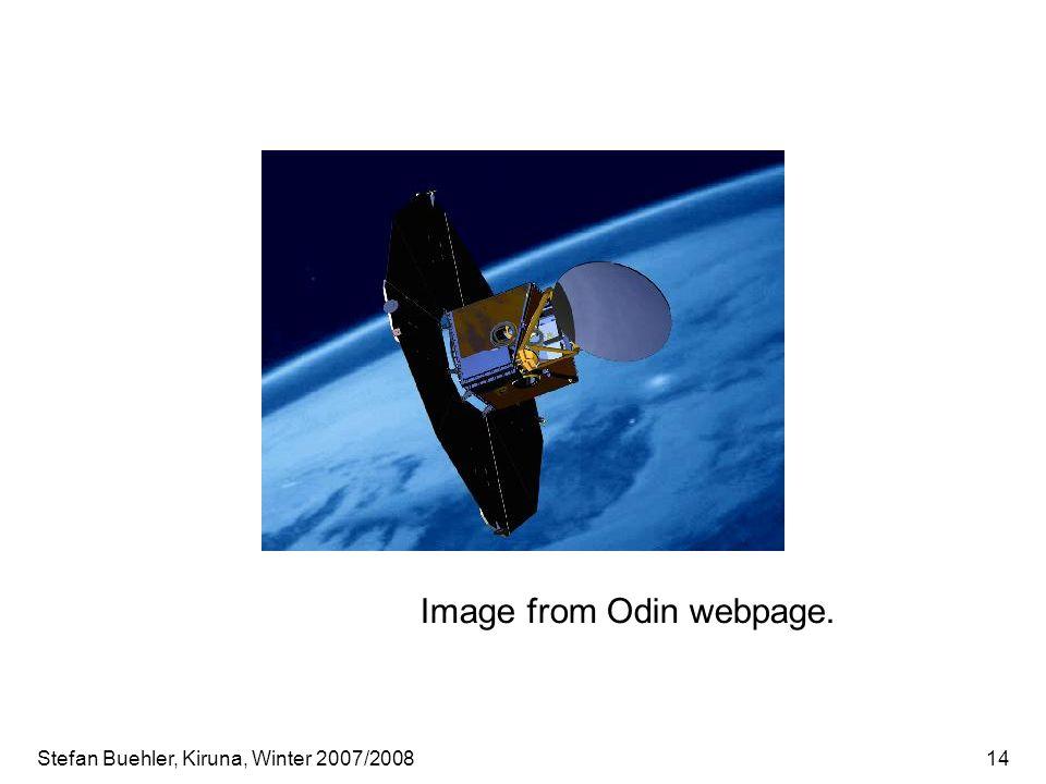 Stefan Buehler, Kiruna, Winter 2007/200814 Image from Odin webpage.