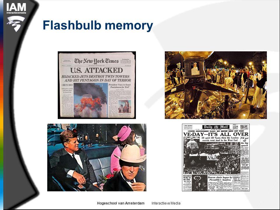 Hogeschool van Amsterdam Interactieve Media Flashbulb memory