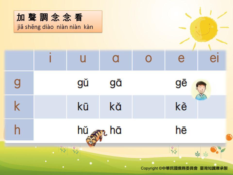 加 聲 調 念 念 看 jiā shēng diào niàn niàn kàn 加 聲 調 念 念 看 jiā shēng diào niàn niàn kàn