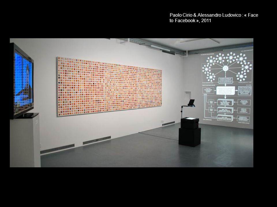 Paolo Cirio & Alessandro Ludovico : « Face to Facebook », 2011