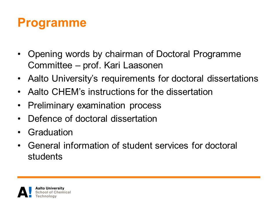 Programme Opening words by chairman of Doctoral Programme Committee – prof.