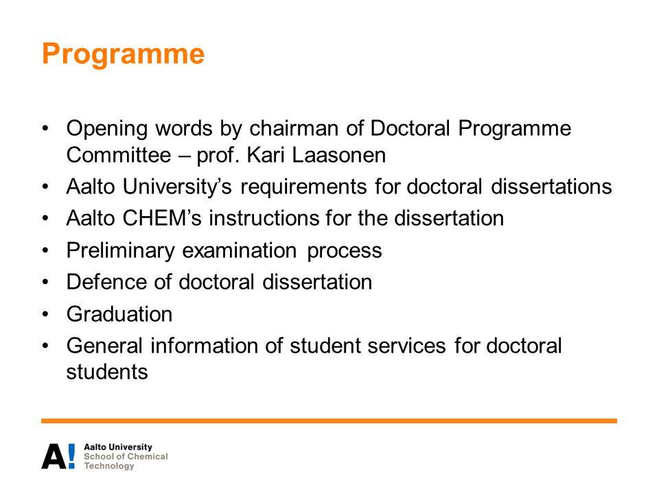 Steps for the graduation After the defence, 1 Doctoral Progr.