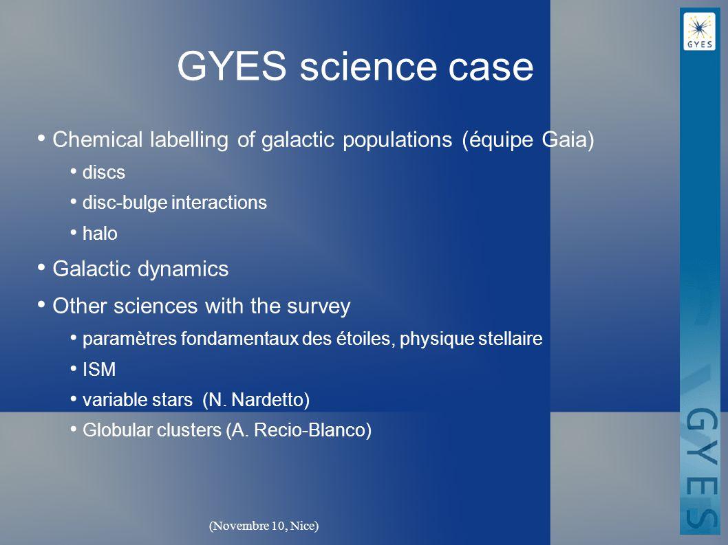 (Novembre 10, Nice) GYES Science Team (Phase A) P.