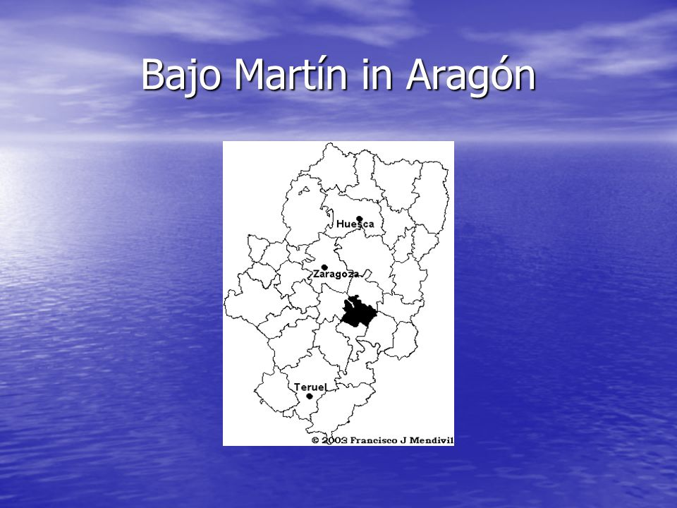 LOCATION Híjar is in the region known as Bajo Martín, situated in the north of the province of Teruel and on the border with the province of Zaragoza.