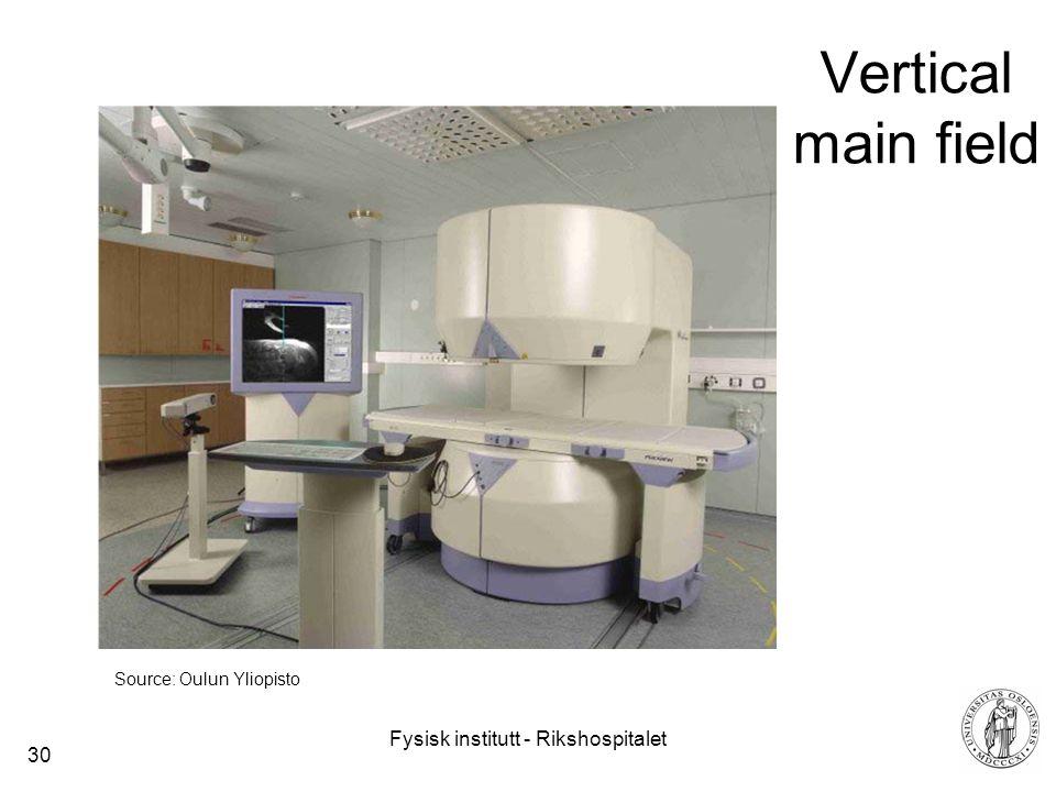 Fysisk institutt - Rikshospitalet 30 Vertical main field Source: Oulun Yliopisto