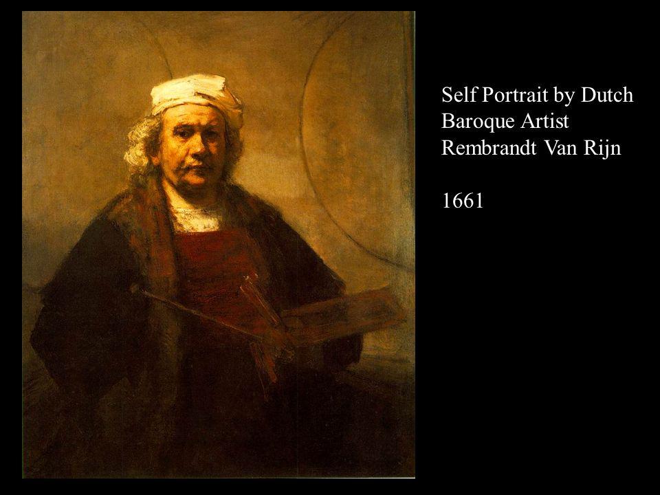 Self Portrait by Dutch Baroque Artist Rembrandt Van Rijn 1660