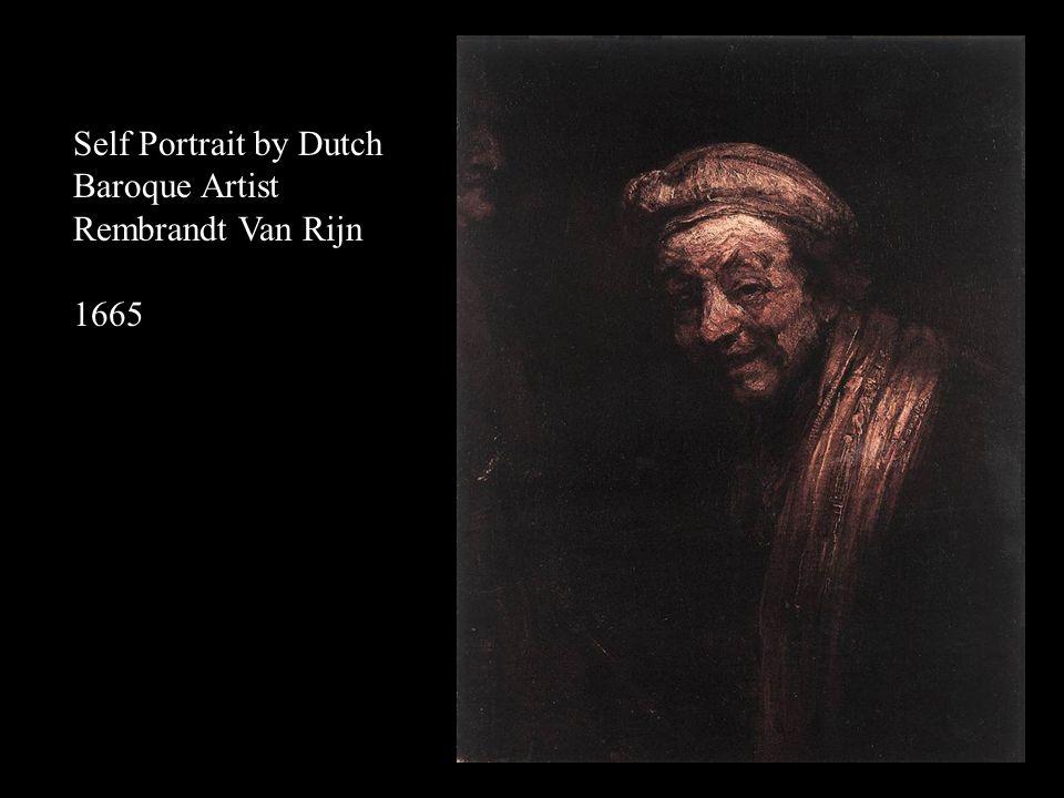 Self Portrait by Dutch Baroque Artist Rembrandt Van Rijn 1661