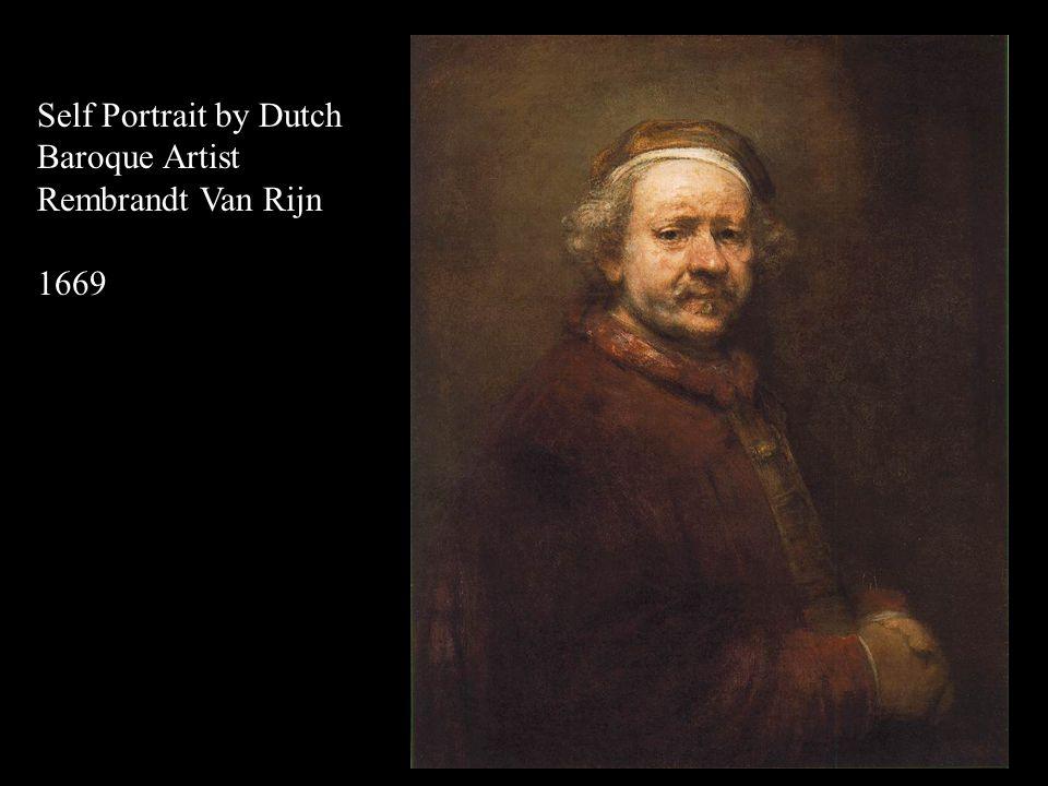 Self Portrait by Dutch Baroque Artist Rembrandt Van Rijn 1665