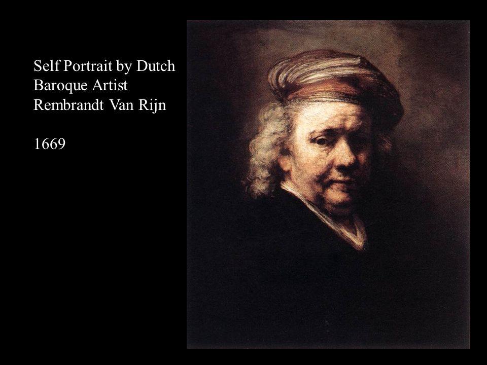 Self Portrait by Dutch Baroque Artist Rembrandt Van Rijn 1669