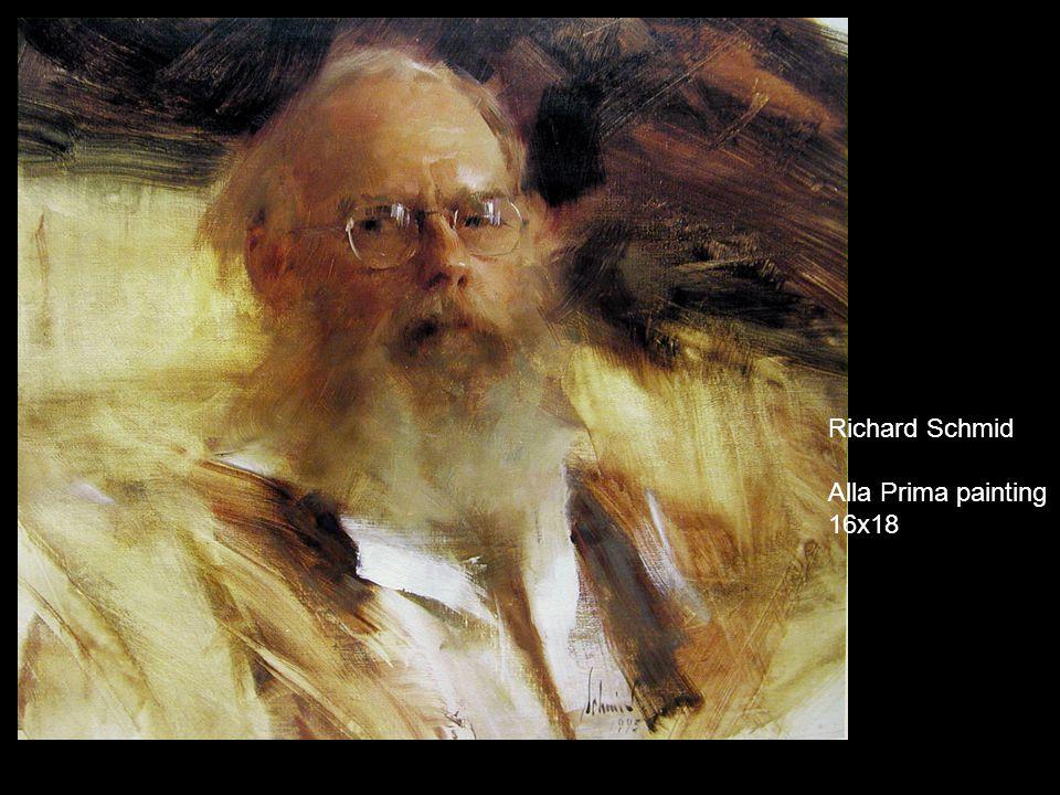 Richard Schmid Alla Prima painting 20x16
