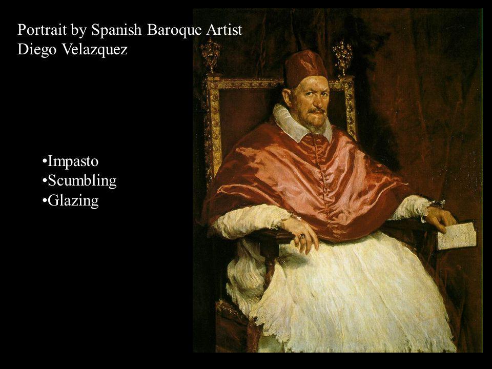 Portrait by Spanish Baroque Artist Diego Velazquez Baroque Age 1600's