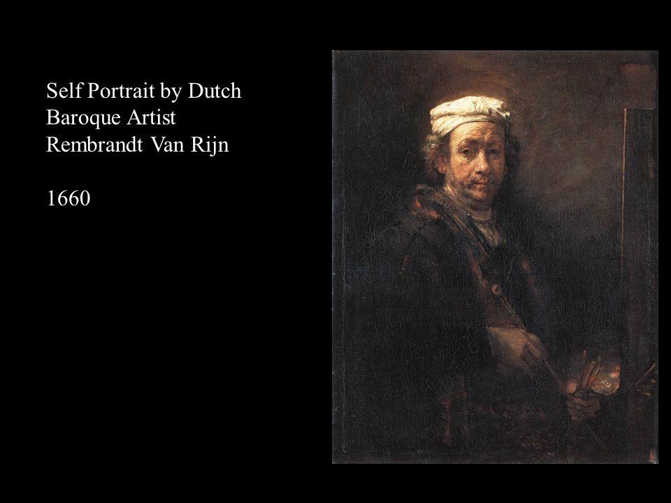 Self Portrait by Dutch Baroque Artist Rembrandt Van Rijn 1658 Impasto Scumbling Glazing