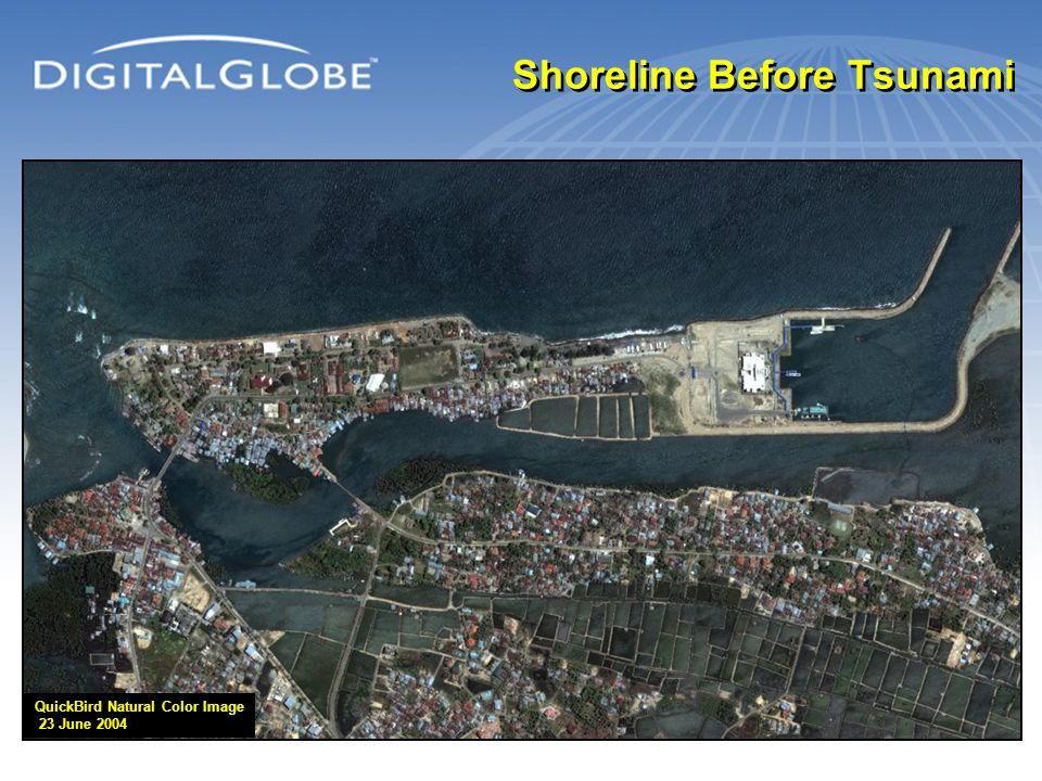 Shoreline Before Tsunami QuickBird Natural Color Image 23 June 2004