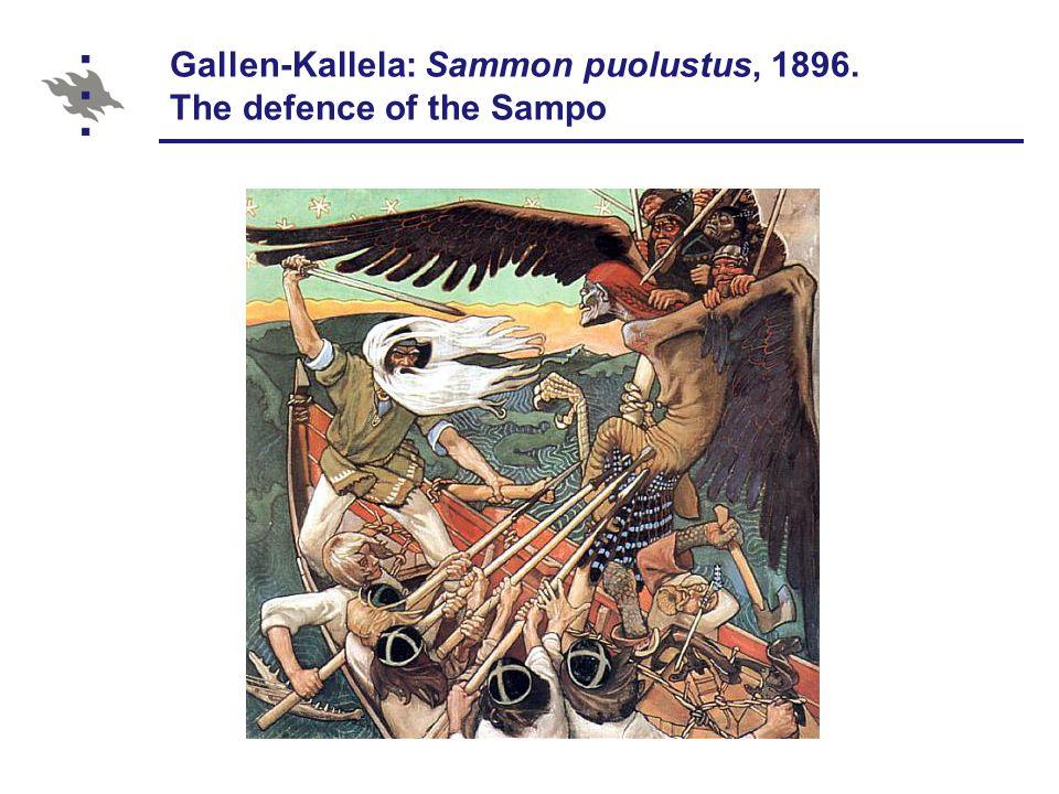 Gallen-Kallela: Sammon puolustus, 1896. The defence of the Sampo