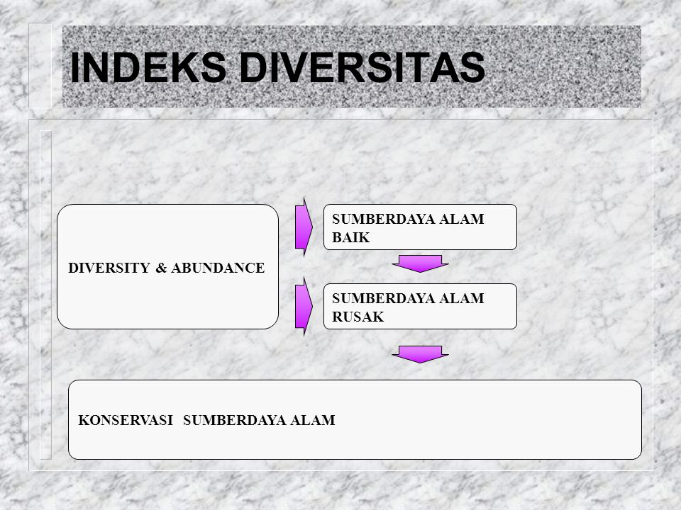 INDEKS DIVERSITAS SUMBERDAYA ALAM BAIK GANGGUAN