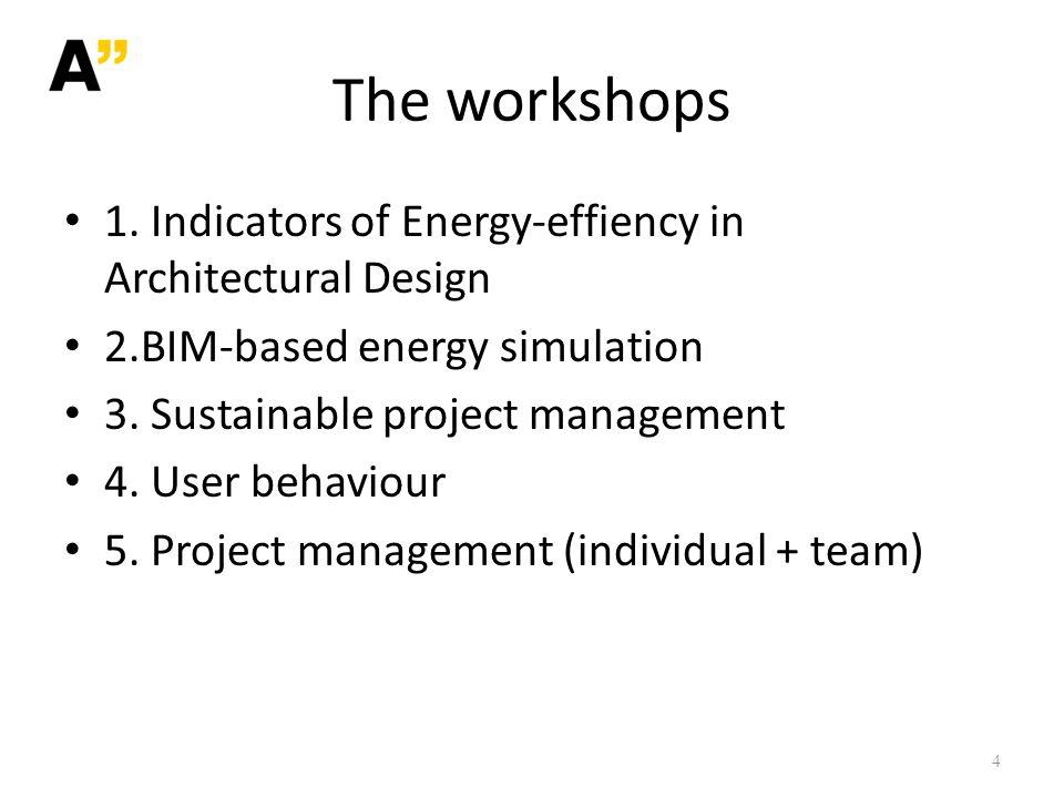 The workshops 1.