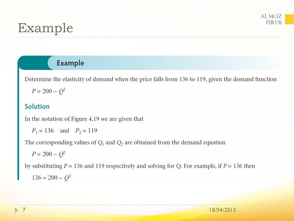 Example 18/04/20137