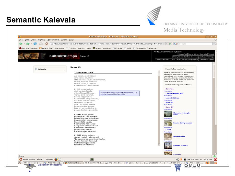 Semantic Kalevala