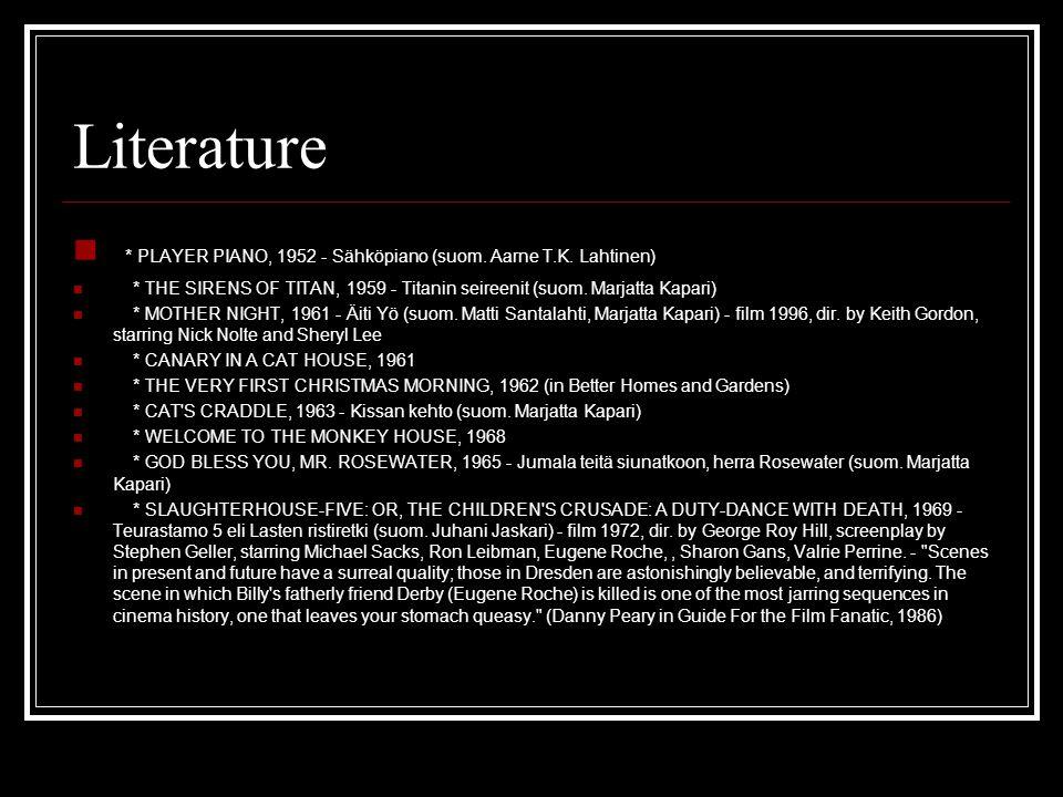 Literature * PLAYER PIANO, 1952 - Sähköpiano (suom.