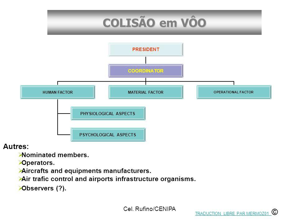 COLISÃO em VÔO Cel. Rufino/CENIPA Autres:  Nominated members.