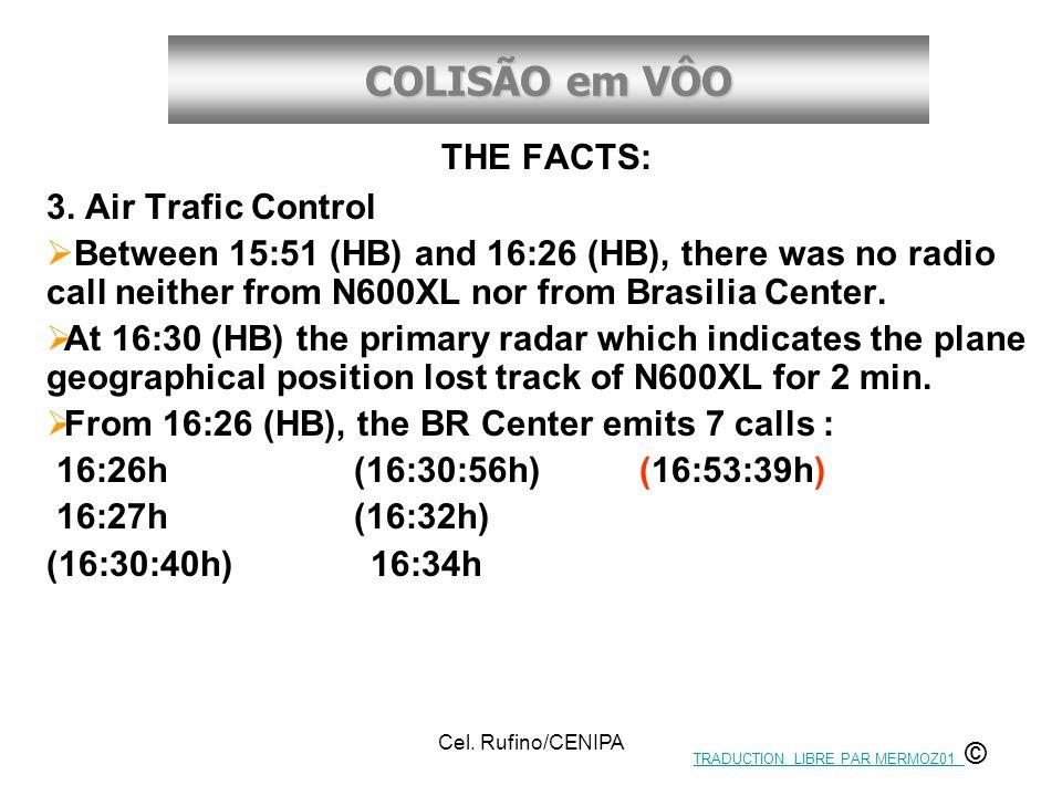 COLISÃO em VÔO Cel.Rufino/CENIPA THE FACTS: 3.