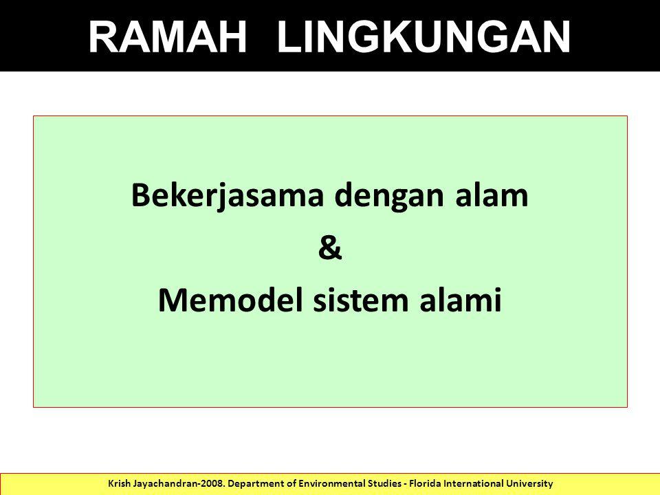 Bekerjasama dengan alam & Memodel sistem alami Krish Jayachandran-2008.