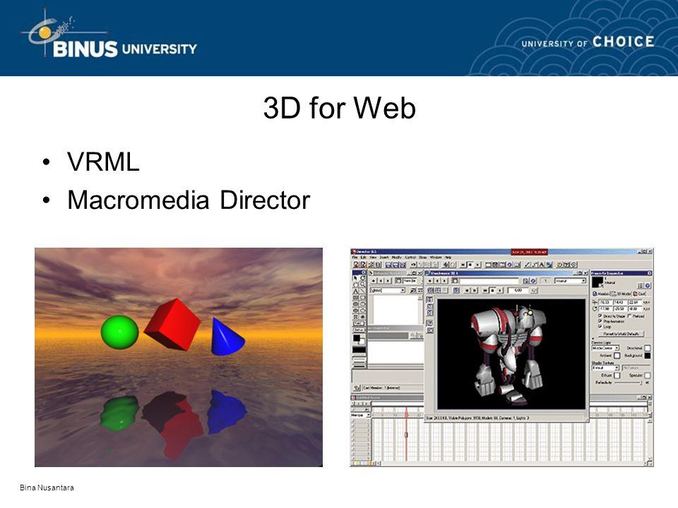 Bina Nusantara 3D for Web VRML Macromedia Director