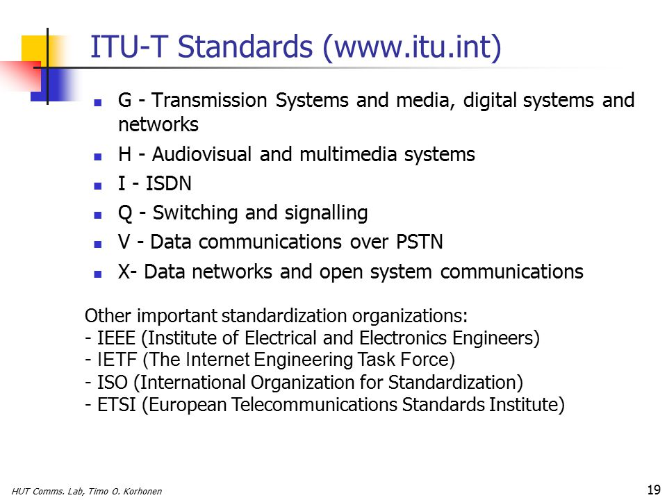 HUT Comms. Lab, Timo O.