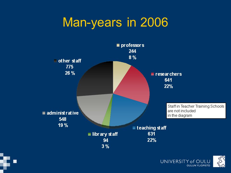 Man-years in 2006 Staff in Teacher Training Schools are not included in the diagram