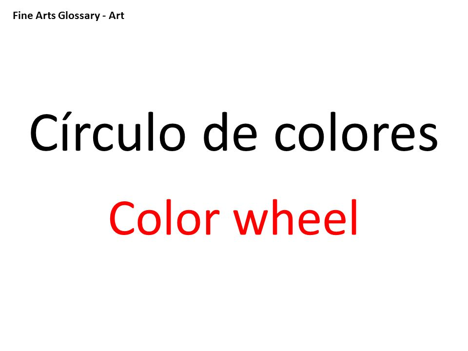 Fine Arts Glossary - Art Tiza de colores Colored chalk