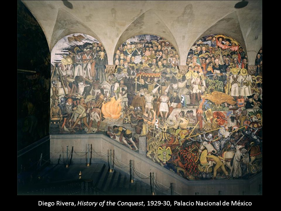 Diego Rivera, History of the Conquest, 1929-30, Palacio Nacional de México