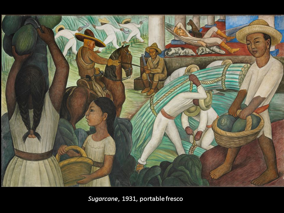 Sugarcane, 1931, portable fresco