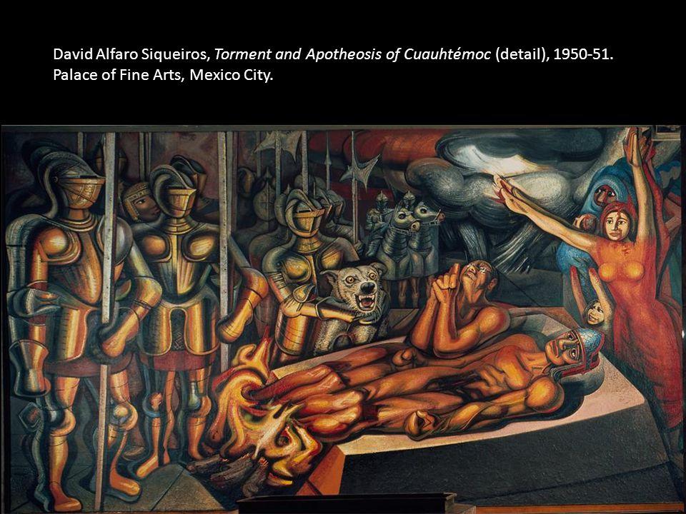 David Alfaro Siqueiros, Torment and Apotheosis of Cuauhtémoc (detail), 1950-51. Palace of Fine Arts, Mexico City.